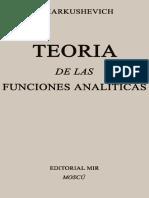 147442190 Teoria de Las Funciones Analiticas Tomo I a Markushevich