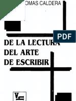 Caldera Rafael Tomas de La Lectura Al Arte de Escribir