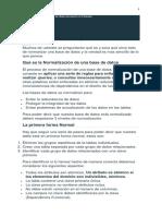 NORMALIZACION EN BASES DE DATOS