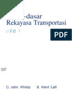 Buku Dasar Rekayasa Transportasi Jilid 1