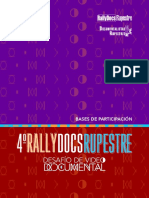 Bases de Convocatoria 4to Rally Docs Rupestre