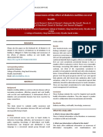 Public Knowledge and Awareness of the Effect of Diabetes Mellitus on Oral Health