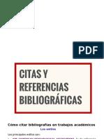 Estilos Citas bibliograficas