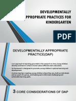 Developmentally Appropriate Aaaaaomnibus Certificationnnpractices for Kindergartennnn