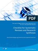 JBI Critical Appraisal-Checklist for Systematic Reviews2017 0
