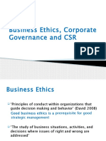 Lecture 2 Business Ethics, Corporate Governance & CSR
