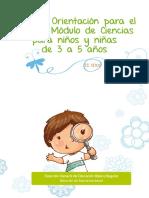orientaciones para el modulo de ciancia en niños de 3 a 5 años