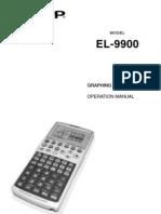 Sharp EL9900 En