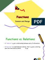 Functions Domain Range