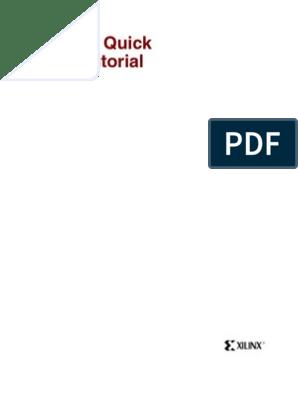Xilinx ISE 9 2i -Quick Start Tutorial | Vhdl | Hardware