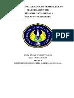 RPP Renang Gaya Bebas Kelas IV Revisi 2018