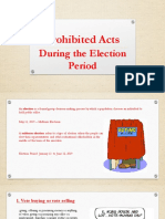 Election Prohibited Acts