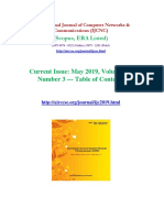 New Research Articles 2019 May Issue International Journal of Computer Networks & Communications (IJCNC)
