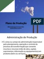 Plano de Produção 01