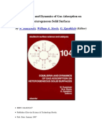 (Studies in Surface Science and Catalysis 104) W. Rudziński, W.a. Steele and G. Zgrablich (Eds.) - Equilibria and Dynamics of Gas Adsorption on Heterogeneous Solid Surfaces-Elsevier Science (1997)