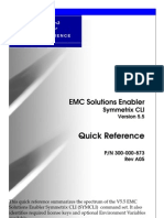 Solutions Enabler Symmetrix CLI Quick Reference