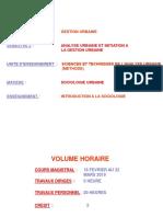 EAMAU_GESTION URBAINE L1 Sociologie Générale_sociologie Urbaine