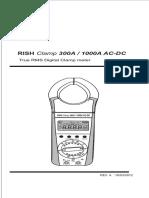 Manual AC-DC Clamp Meter REV A