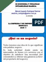 1.-A MODULO I-La Empresa-Importancia -Definiciones Contabilidad - Sesion_01