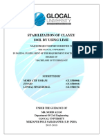 STABILIZATION OF CLAYEY  SOIL BY USING LIME