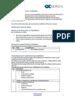 PEB Recommendations Prior Installation