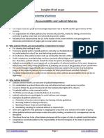 Judicial Accountability and Judicial Reforms