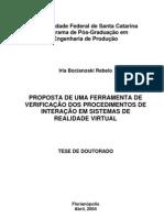 Proposta de uma ferramenta de verificação dos procedimentos de interação em sistemas de realidade virtual