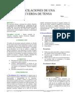 Informe 6. Experimento 3 Cuerda Tensa