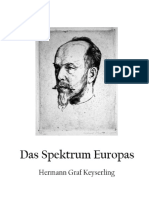 Hermann Graf Keyserling - Das Spektrum Europas
