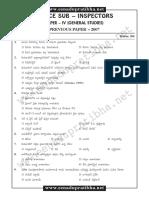 Police Si 2007 Generalstudies Paper4 Questionpaper