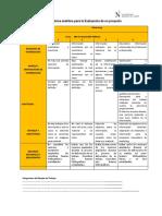 Rúbrica Analítica Para La Evaluación Del Proyecto- Marketing
