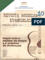 REVISTA  MUSICAL  EVANGÉLICA  Nº   010