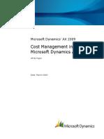 Microsoft Dynamics AX 2009 - Cost Management Whitepaper