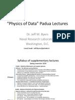 Jeff Byers - Machine Learning and Advanced Statitics