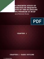 Presentation of a cross linguistic study