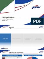 JSW Steel - Investor Presentation - Feb 2017