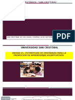 Unidad III Estrategias de Enseñanza Para Generar Aprendizajes Significativos