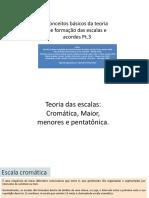 Teoria Das Escalas e Acordes Pt.3