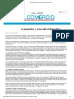 La Semiótica o El Eco de Umberto Eco _ El Comercio