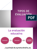 Tipos de Evaluacion