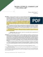 ABEL LLUCH, X. La Dosis de Prueba. Entre El Common Law y El Civil Law.