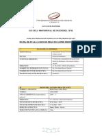 Ficha de Evaluacion de Practicas Pre Profesionales