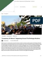 Conspiracy of Silence Happening Around the Rohingya Muslims