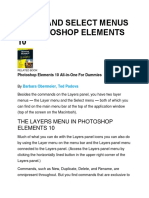Layer and Select Menus in Photoshop Elements 10