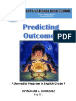 Remedial Program in Predicting Outcomes