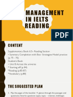 Time management in IELTS Reading