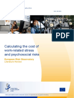 Calculating the Cost of Work Related Stress and psychosocial risks