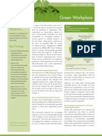 SHRM Green Workplace Survey Brief