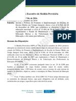 Sumario Executivo MPV 746