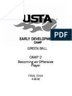Camp 2 - Tennis Green Offensive Player Curriculum